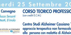 Corso Teorico professionale: approccio terapeutico non farmacologico alla paersona con malattia Alzheimer